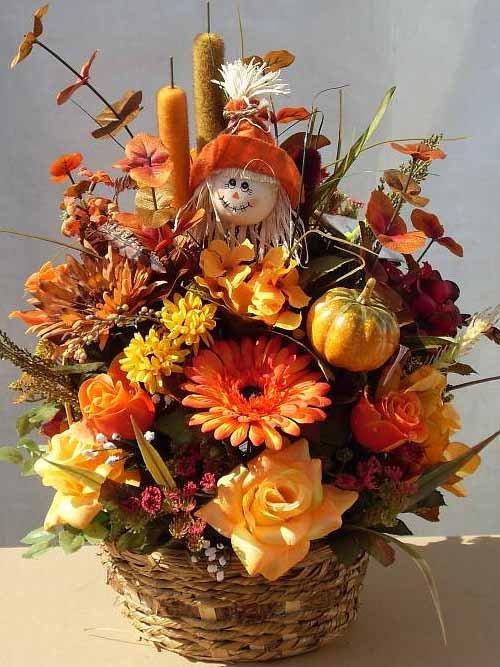 Осенний букет своими руками для детского сада  690