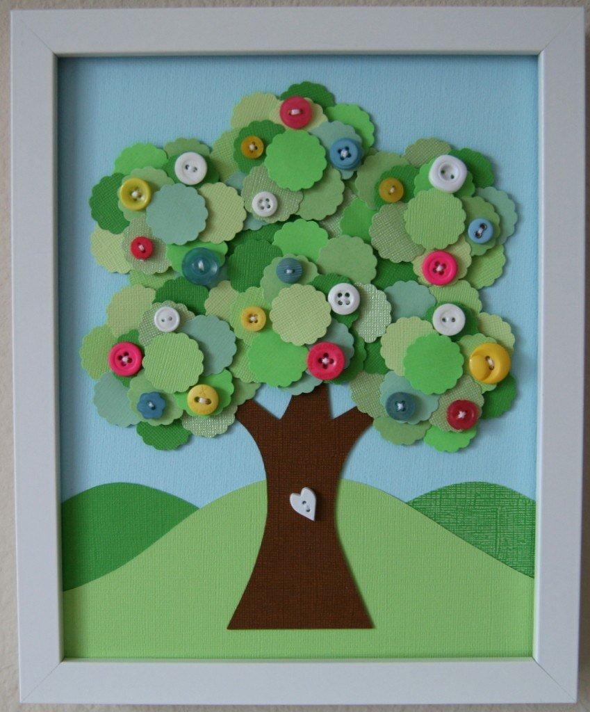 Дерево из бумаги своими руками для детей из руки 116