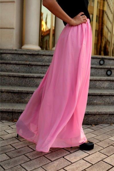 Летняя юбка своими руками из шифона 85