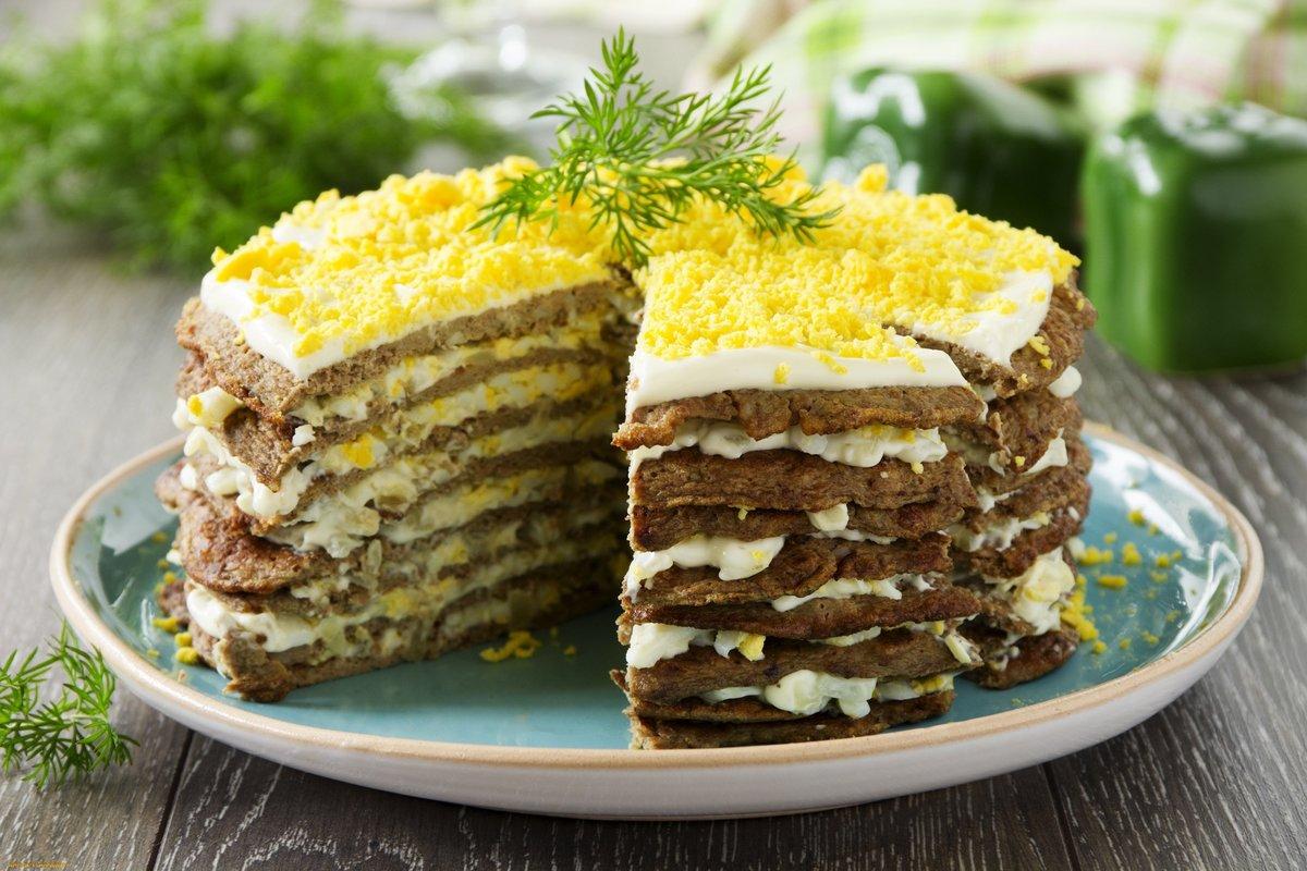Рецепт вкусный печеночный торт