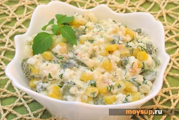 Салат из говядины и кукурузы рецепт с