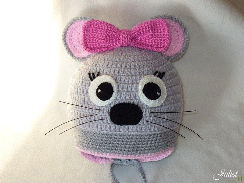 Вязание шапка мышонок схема