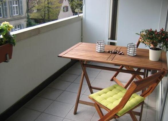 Стол и стул на балкон своими руками 856