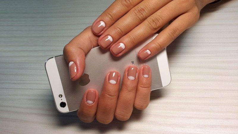 Дизайн шеллак на короткие ногти
