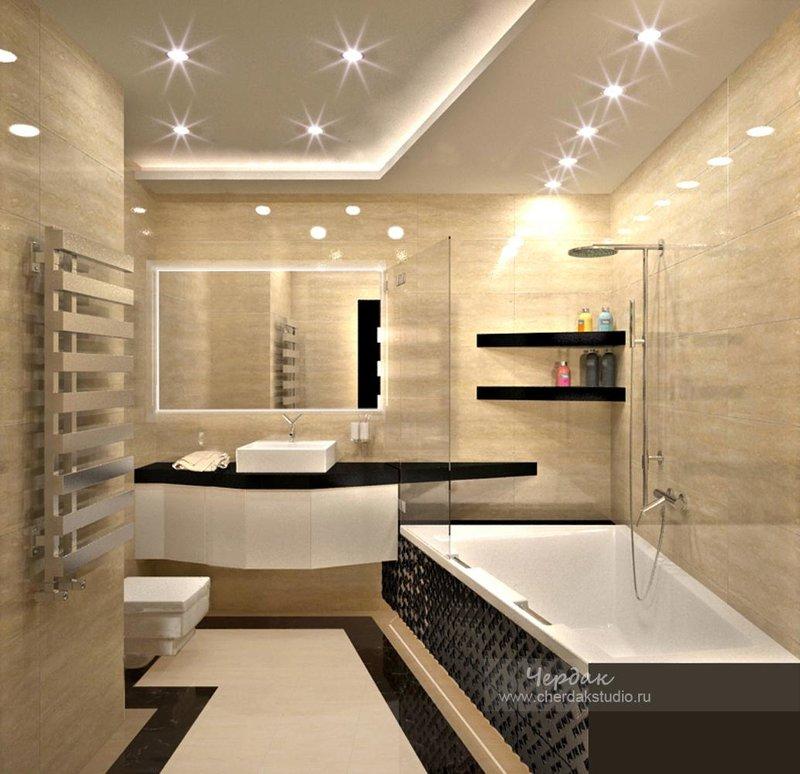 Ванна комната дизайн хай тек