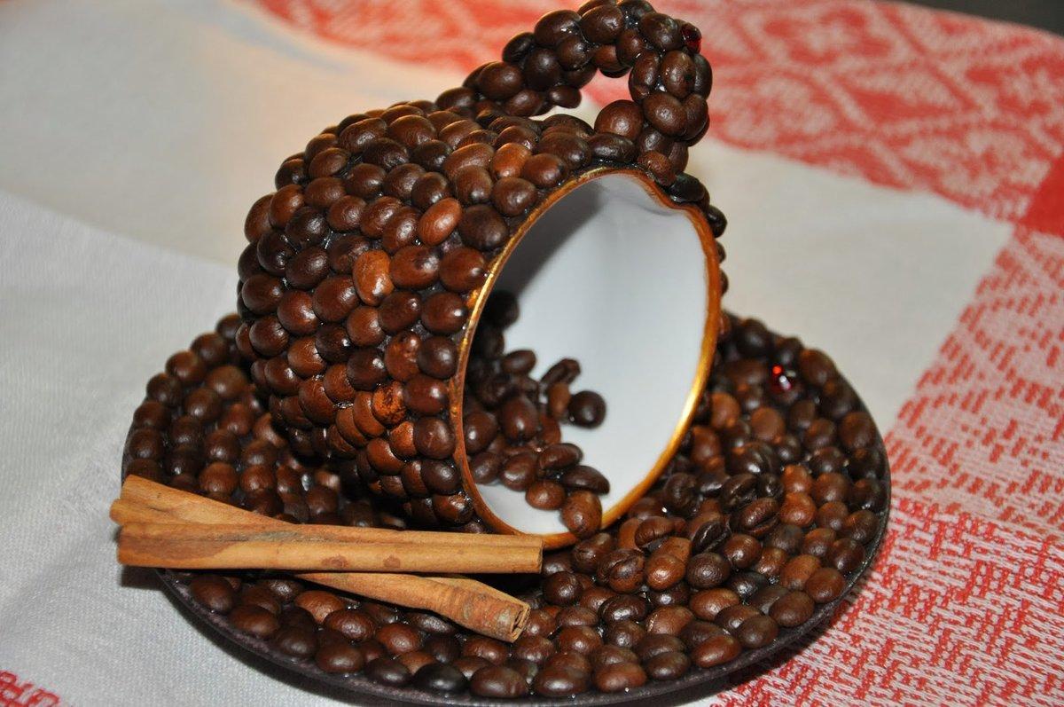 Изделия из кофейных зерен своими руками фото пошагово