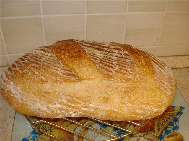 Хлеб дрожжевой в домашних условиях в духовке