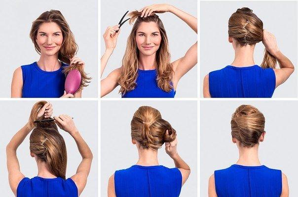 Прическа ракушка на средних волосах как сделать