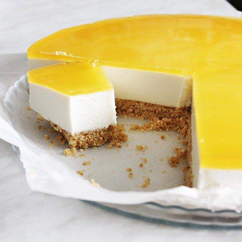Торт с суфле с желатином