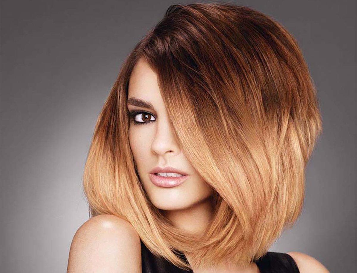 Стрижки на средний волос покраска