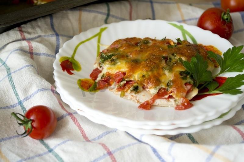 Свиные с помидорами и сыром отбивные пошаговый с