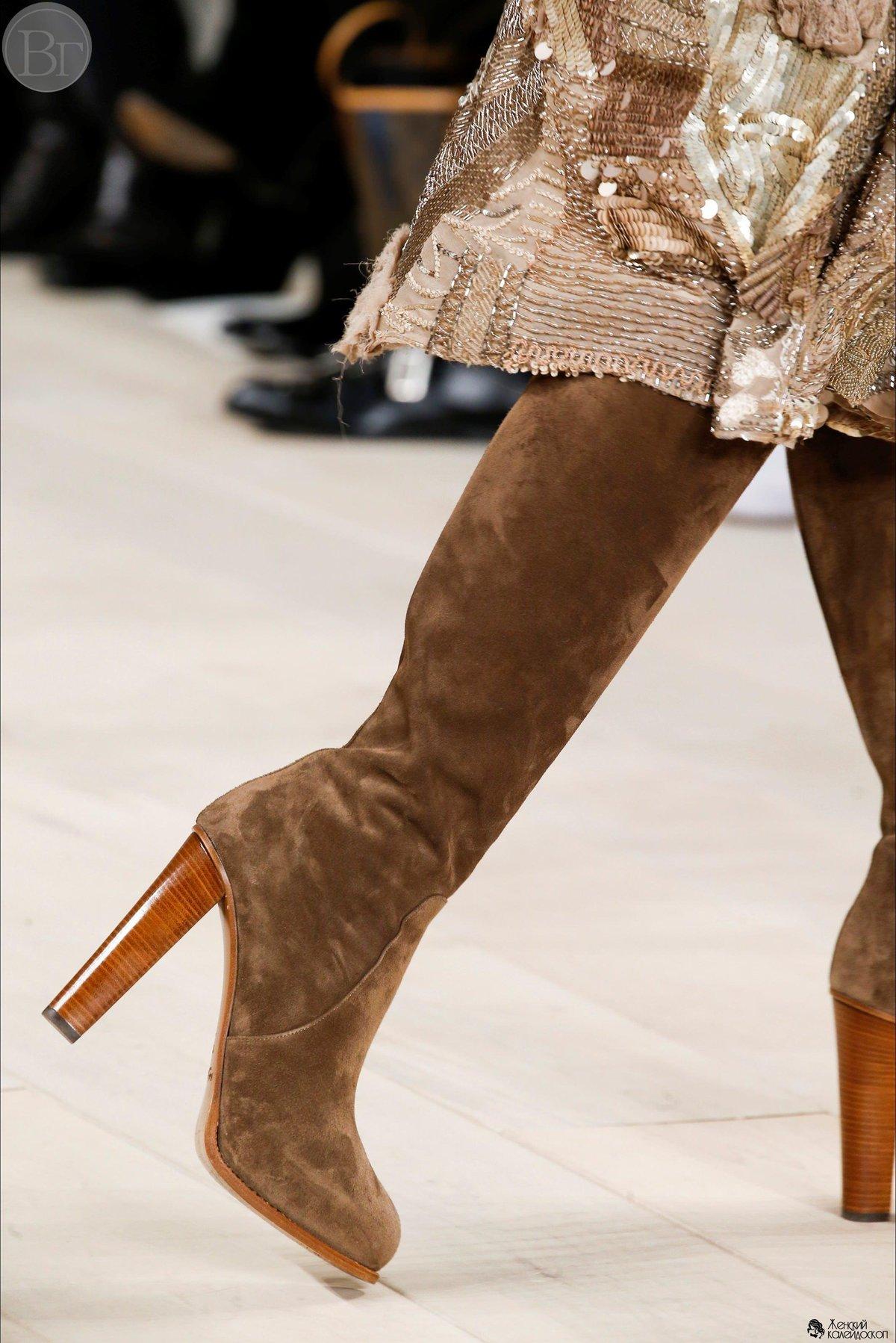 Какие сапоги этой зимой в моде
