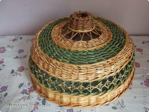 Мастер класс по плетению из газетных трубочек плетение абажура