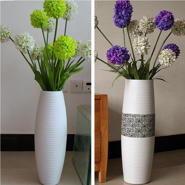 Декоративные цветы своими руками в высокую вазу 49