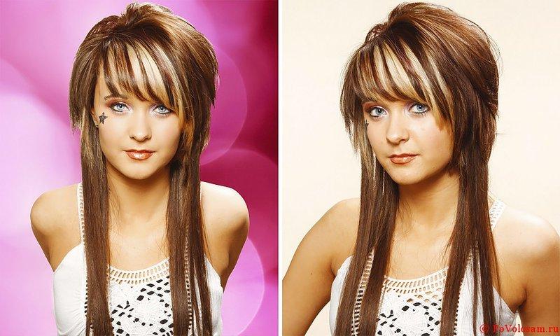 Стрижки на средние волосы с челкой с объемом на макушке
