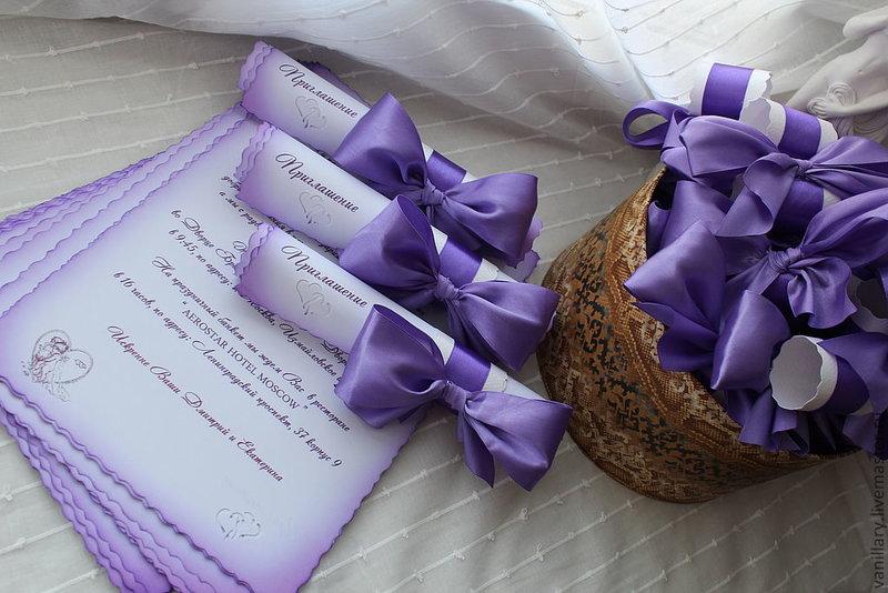 Приглашение свадьбу свиток своими руками