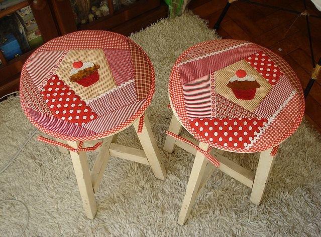 Как сшить чехлы круглые для стульев