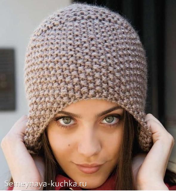 Фото вязания женских шапок 55