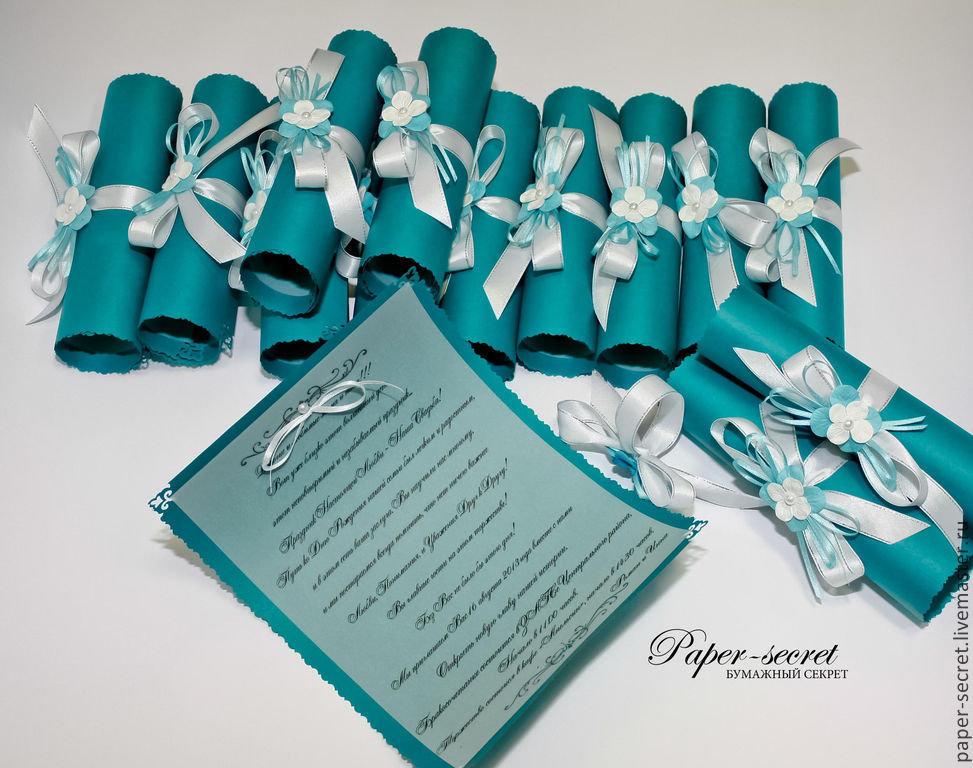 Оформление свадебного приглашения своими руками 47