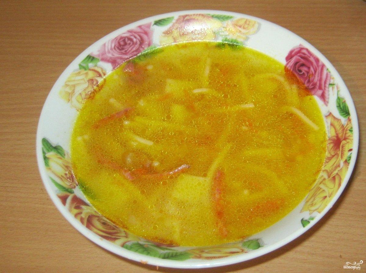 Суп с домашней колбасой рецепт