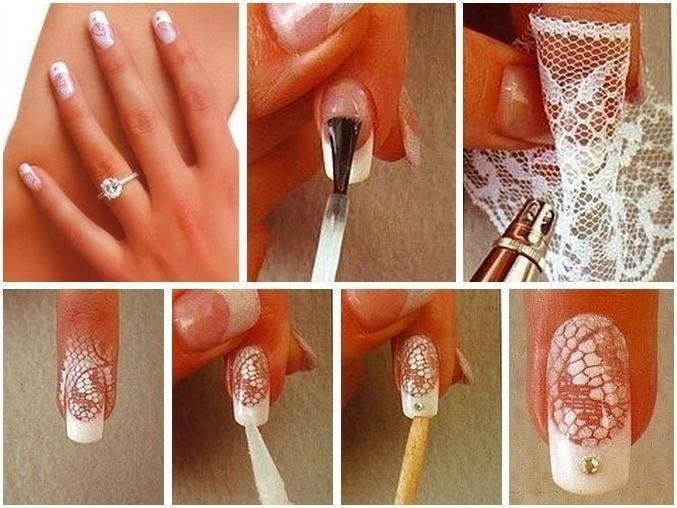 Рисунки лаком для ногтей своими руками