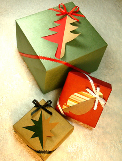 Как сделать новогоднюю упаковку для подарка своими руками
