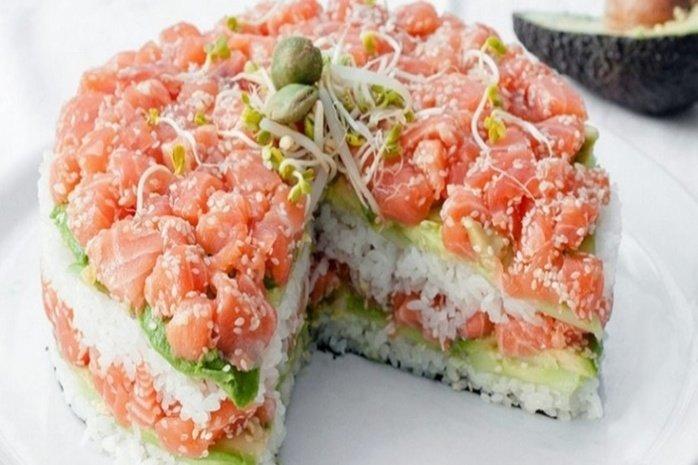 Суши салат с фото