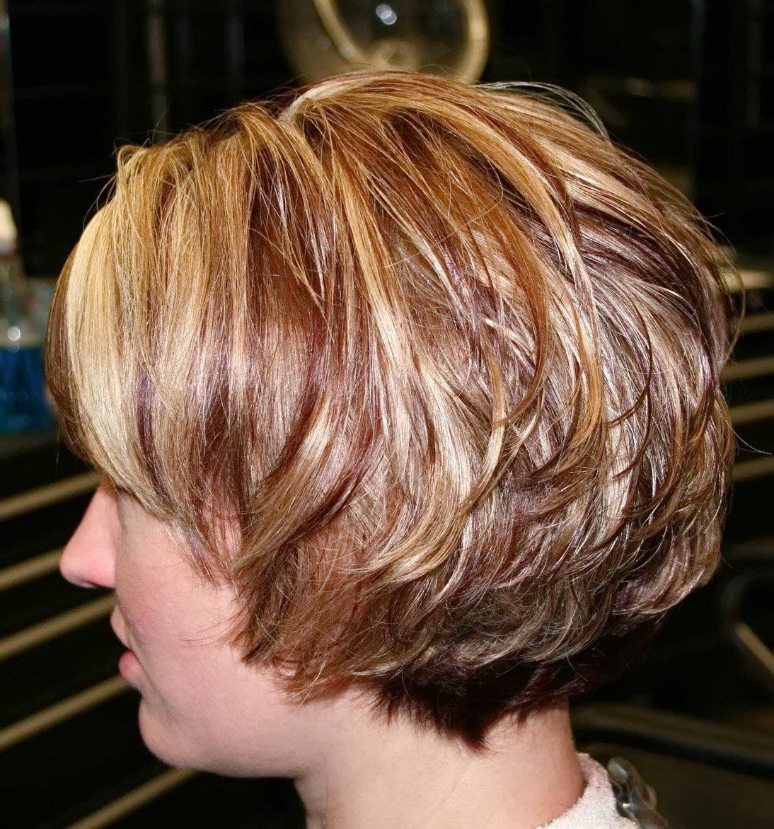 Стрижка каскад каре на короткие волосы