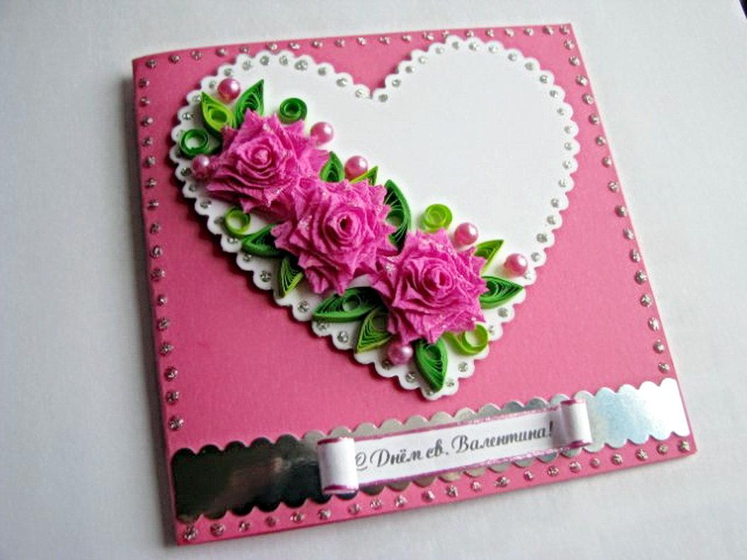 Красивая открытка своими рука для девушки