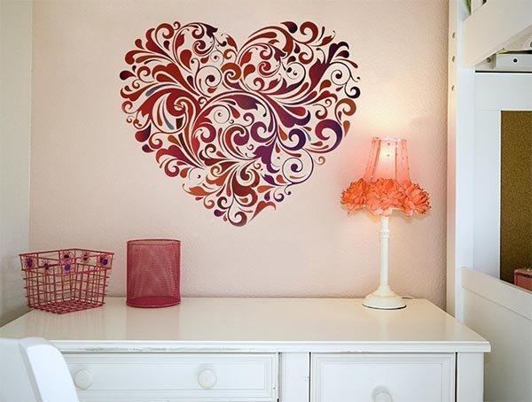 Рисунки в квартире на стенах своими руками