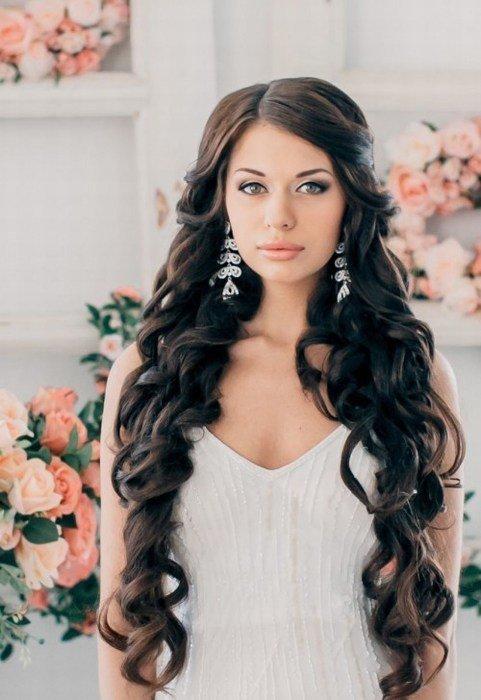 Фото свадебных причёсок с локонами