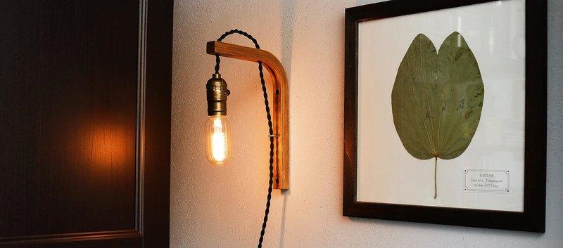 Настенный светильник своими руками фото