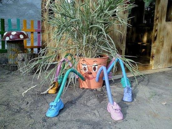поделки для сада своими руками из ведер
