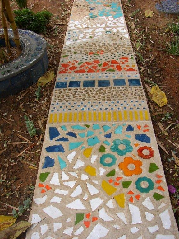 Дорожки из керамической плитки своими руками