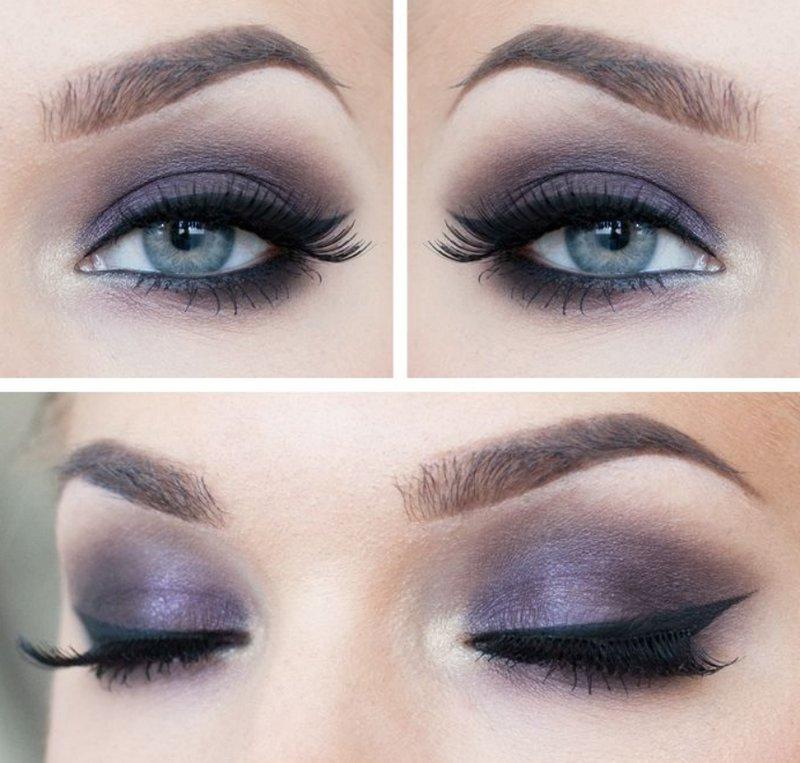 Макияж к голубым глазам и светлым волосам