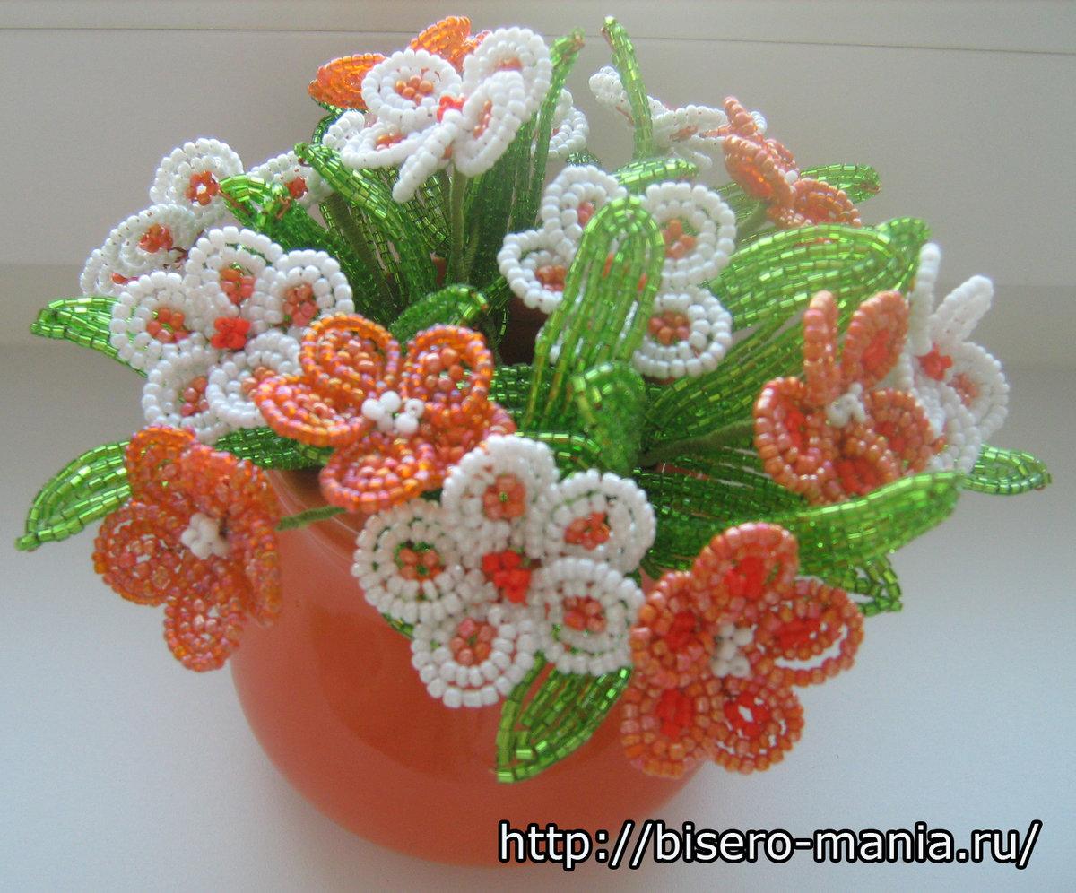 Показать поделки из бисера цветы 79