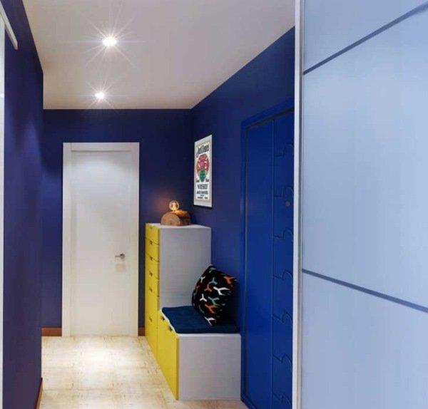 Синий коридор дизайн