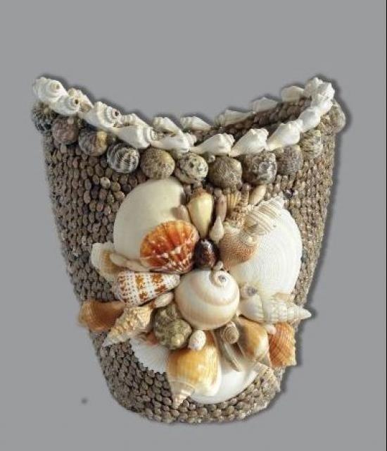 Поделки из ракушек своими руками вазы