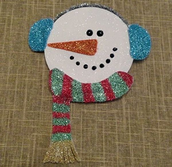 Снеговик из дисков сд своими руками