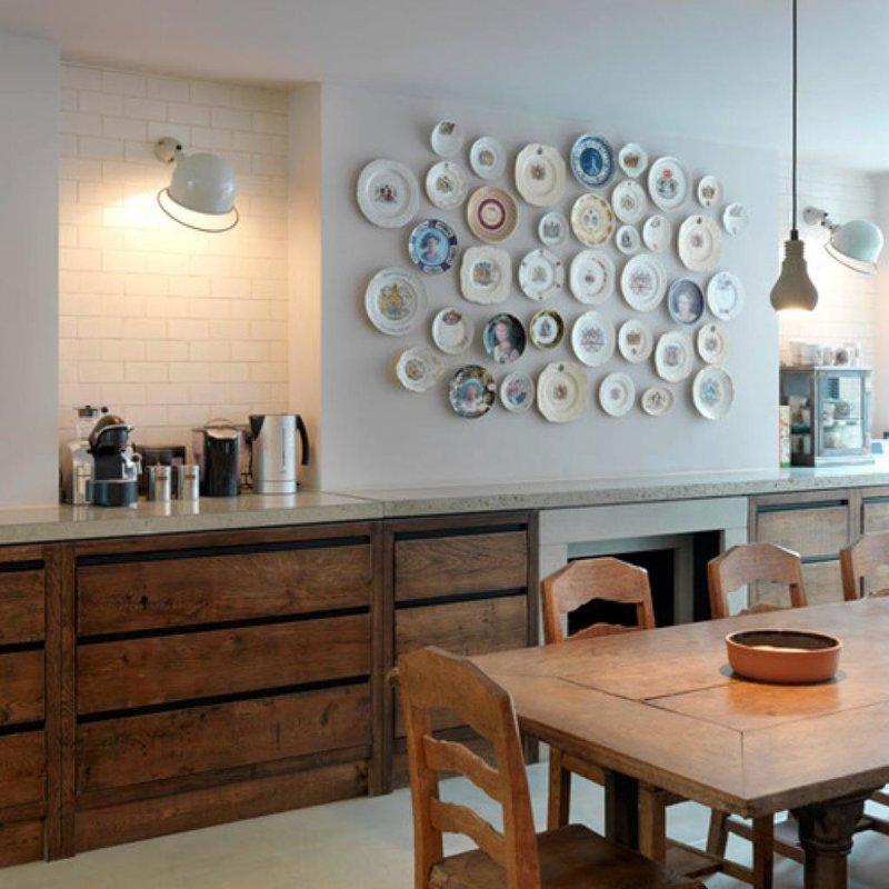 Декор стен кухни своими руками фото