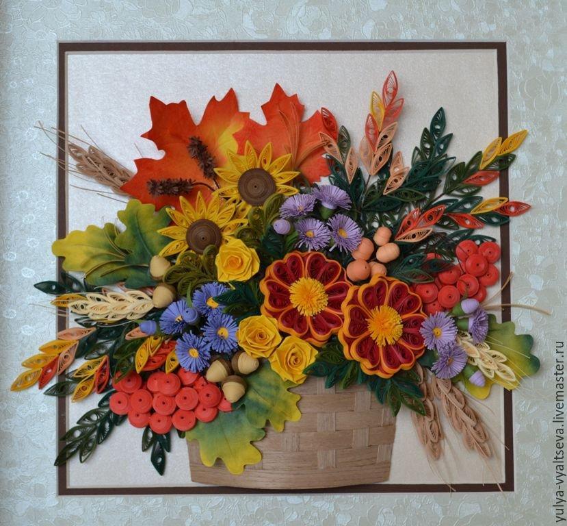 Картины из осенних цветов своими руками 13