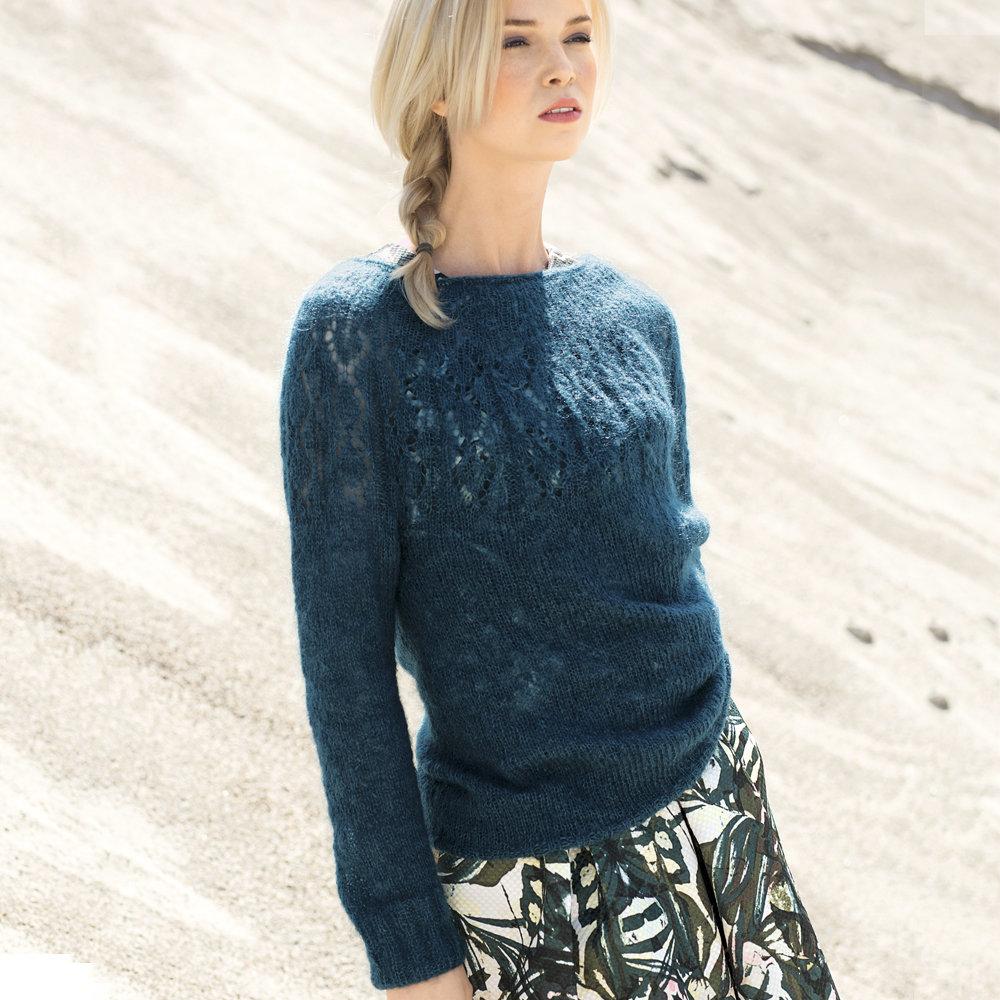 Вязание из мохера свитеров 399