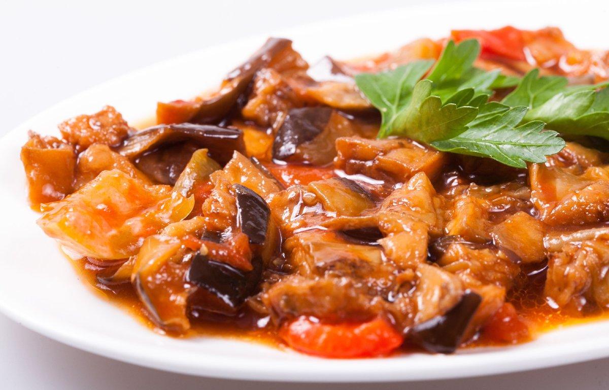 Баклажаны тушеные с овощами на сковороде рецепты