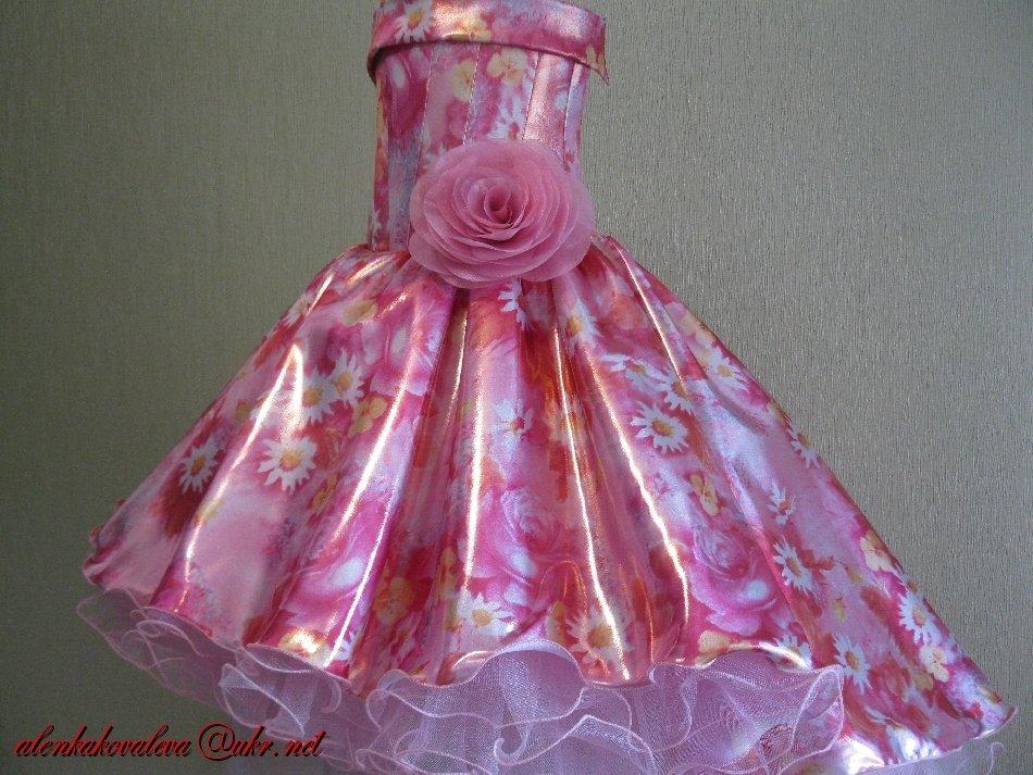 Платья для девочек нарядные своим руками 374