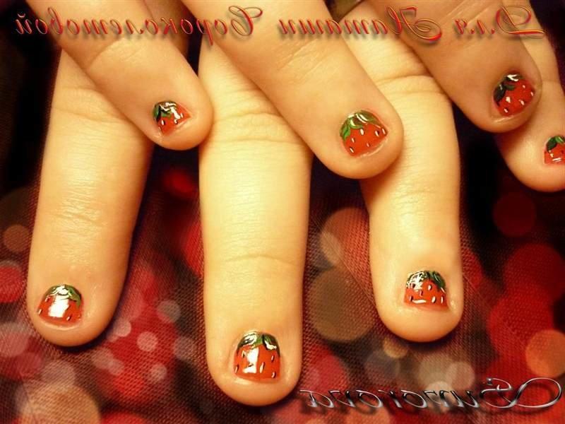 Маникюр из акрила короткие ногти фото