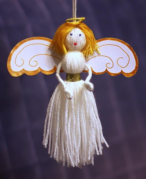 Как сделать ангелочка на елку