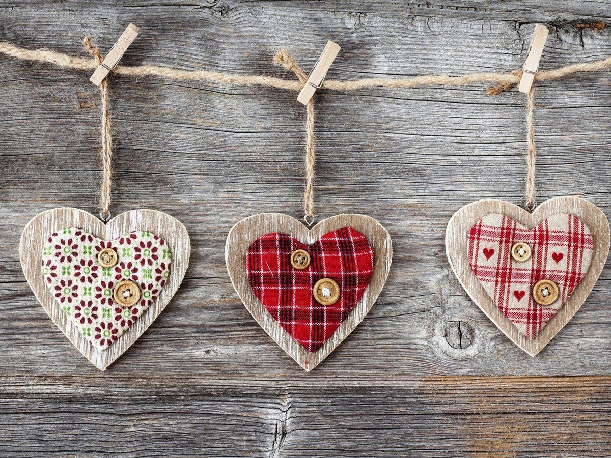 Сердечки в подарок своими руками