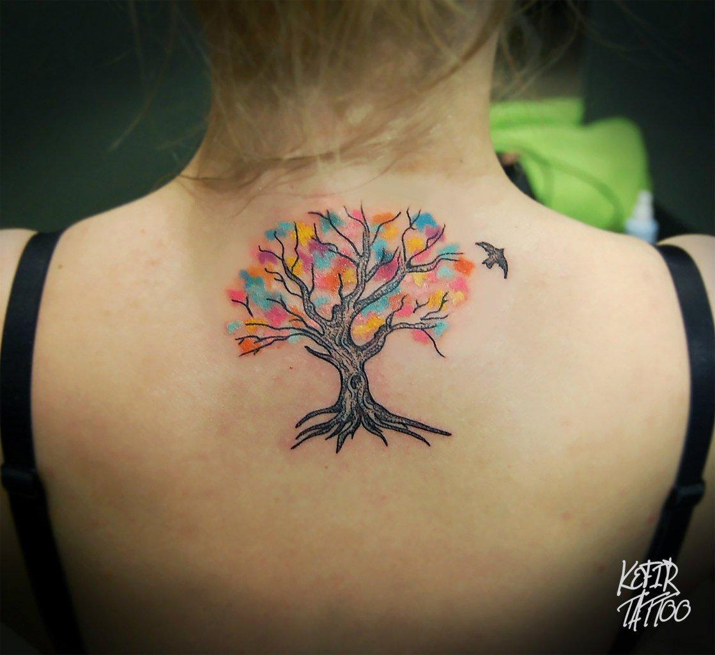 Тату для девушек с деревом жизни