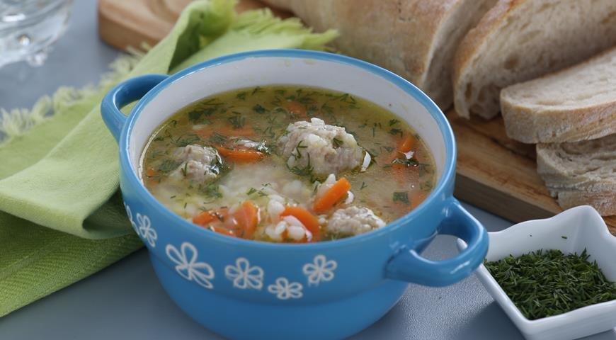 Суп с фрикадельками и с рисом рецепт с фото пошагово
