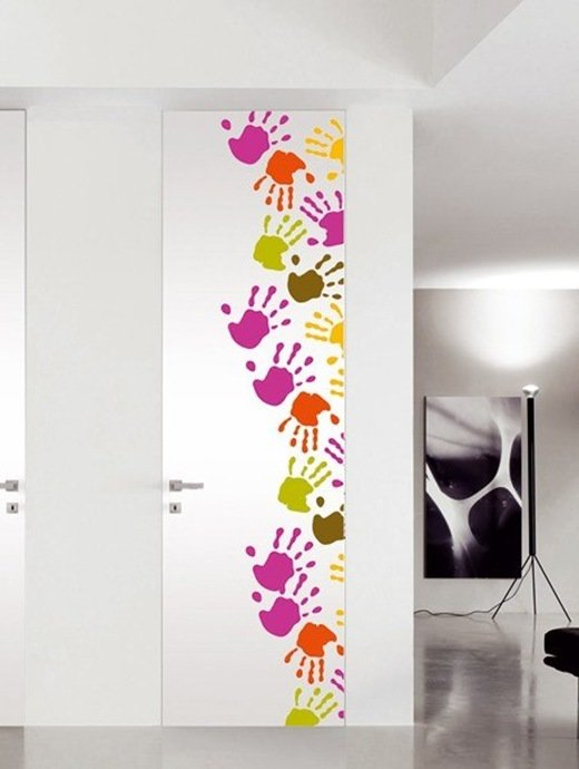 Рисунки на дверях своими руками фото